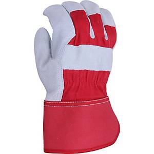 Ultimate USUR-R Leather Riggers Gloves Red/Grey  Large (Pair)
