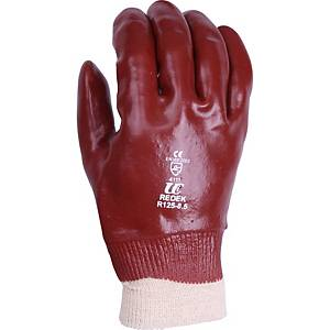 Ultimate R125 PVC Knitwrist Gloves Red Size 9.5 (Pair)