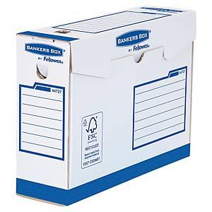 Boîte d archives Bankers Box A4+ - manuel - dos 10 cm - blanc/bleu - par 20