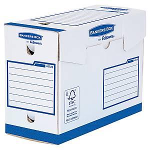 Boîte d archives Bankers Box A4+ - manuel - dos 15 cm - blanc/bleu - par 20