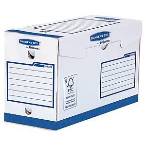 Fellowes archiefdozen, karton, rug 15 cm, wit en blauw, per 10 dozen