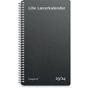 Lærerkalender Mayland 8140 00, uge, 2020/21, 9,5 x 16,8, fiberpap, sort