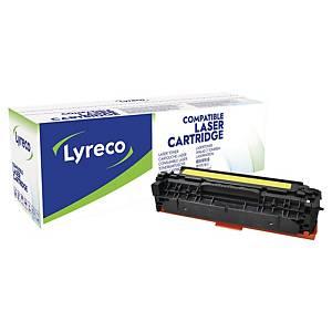 Lasertoner Lyreco HP CF382A kompatibel, 2 700 sider, gul