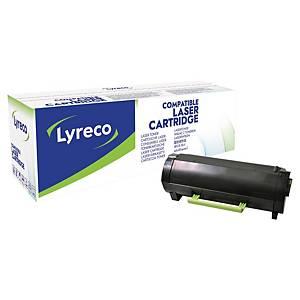 Cartouche de toner Lyreco compatible équivalent Lexmark 50F0UA0 - noire