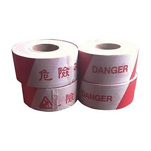 Barrier Tape 75mmx500m Red/white
