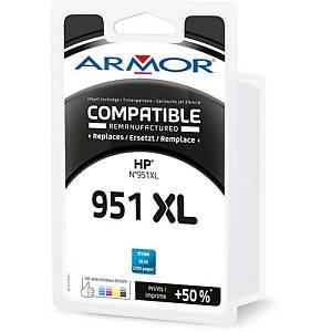 Cartouche d encre Armor compatible équivalent HP 951XL - CN046AE - cyan