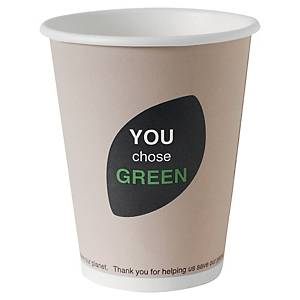Duni Thank You Cup Green 12Cl - Pack of 45