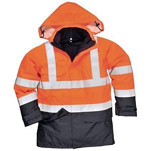 Portwest S768 parka hi-viz 5EN1 orange/bleu marine - taille S