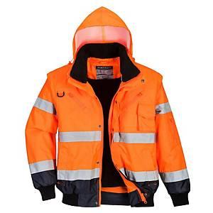 Portwest C465 blouson hi-viz 3EN1 orange/bleu marine - taille XXL