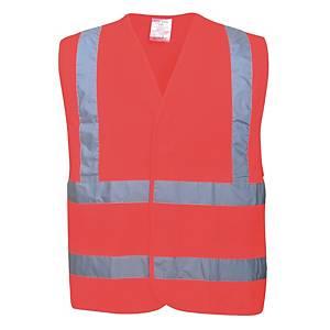 Veste fluo Portwest C470 hi-viz, rouge fluo, taille L/XL, la pièce