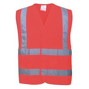 Veste fluo Portwest C470 hi-viz, rouge fluo, taille XXL/3XL, la pièce
