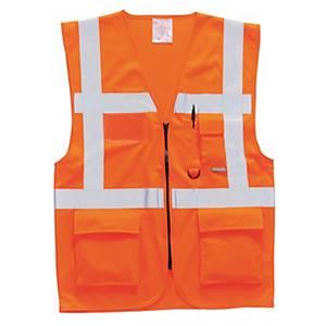 Gilet multitasche alta visibilità Portwest arancione tg L