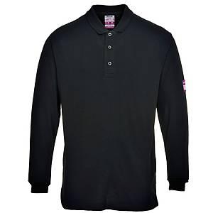 Polo manches longues Portwest FR10, noir, taille L, la pièce