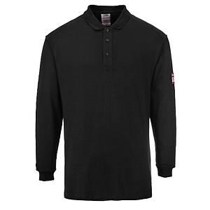 Polo manga larga Portwest FR10 negro - talla l