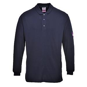 Polo manches longues Portwest FR10, bleu marine, taille 5XL, la pièce