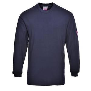 Portwest FR11 T-shirt met lange mouwen, marineblauw, maat M, per stuk