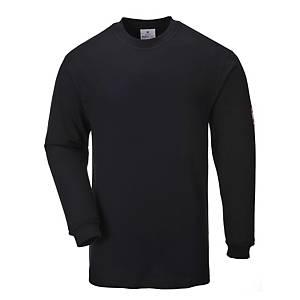 Portwest FR11 T-shirt met lange mouwen, zwart, maat S, per stuk