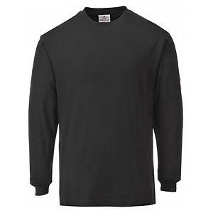 Camisola manga comprida Portwest FR11 preto - tamanho S