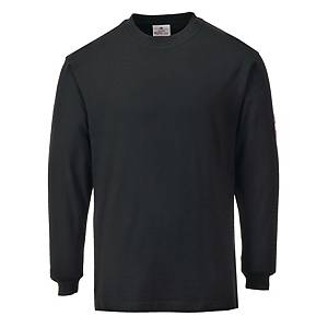 T-shirt manches longues Portwest FR11, noir, taille L, la pièce