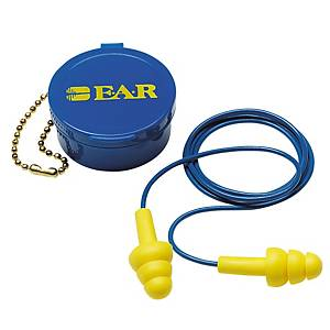 3M ULTRA FIT EARPLUGS 340-4002 CORD WITH CASE