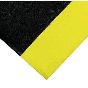 Tapis de sol anti-fatigue Coba Orthomat Safety - 60 x 90 cm - noir/jaune