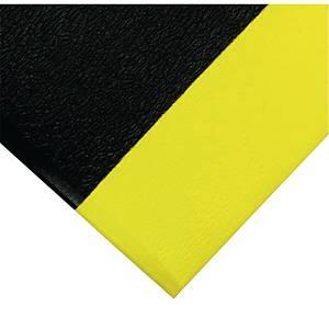 Tapis de sol anti-fatigue Coba Orthomat Safety - 90 x 150 cm - noir/jaune