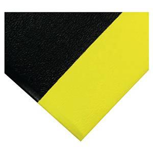 Tapis de sol anti-fatigue Coba Orthomat Safety - 0.9 x 18.3 m - noir/jaune
