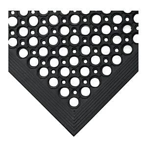 Tapis de sol anti-fatigue Coba Rampmat - 90 x 150 cm - noir