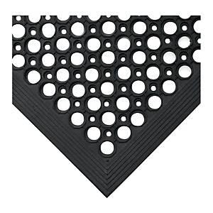 Tapis de sol anti-fatigue Coba Rampmat - 80 x 120 cm - noir