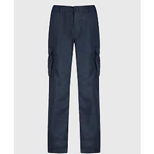 Cargo Trousers 42   Waist Long Leg - Navy Blue