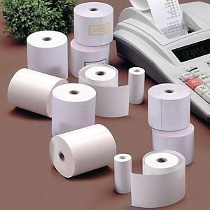 Pack de 8 bobinas de papel para calculadora - 75 mm x 40 m