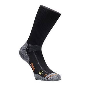 Chaussettes Emma Hydro-Dry® Working 128, noires/grises, pointure 47-50, la paire