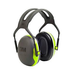 Kapselgehörschützer mit Kopfbügel 3M Peltor X4A, 33db, neon-grün/schwarz