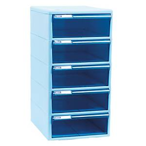 ORCA TCB-5BB Cabinet 5 Drawers Blue/Blue