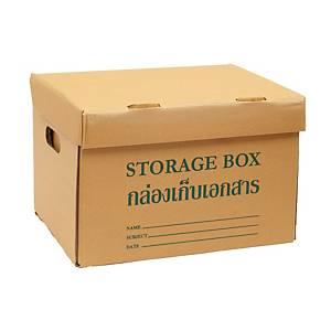 กล่องกระดาษเก็บเอกสาร KI185/185 32X40X26.5 เซนติเมตร แพ็ค 2 กล่อง
