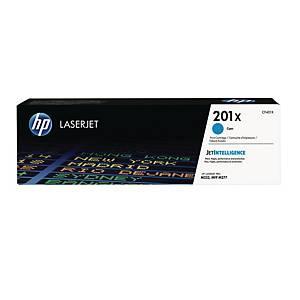 Lasertoner HP 201X CF401X, 2.300 sider, cyan
