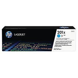 HP 201X High Yield Cyan Original Laserjet Toner Cartridge (CF401X)