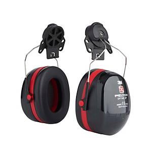 Helm-Kapselgehörschützer 3M Peltor Optime III, 34dB, schwarz/rot