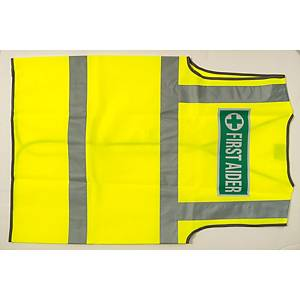 Leo High Visibility Waistcoat First Aid Logo Yellow XXL