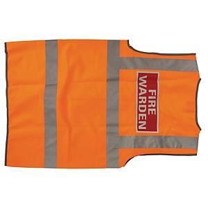 Leo High Visibility Waistcoat Fire Warden Logo Orange XL