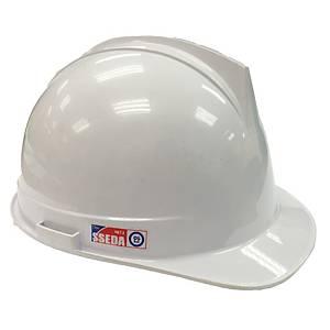 SSEDA หมวกนิรภัยรองในไนล่อน ปรับหมุน ขาว