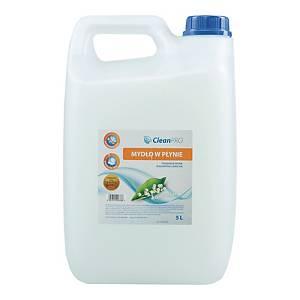 Mydło w płynie CLEAN PRO antybakteryjne, białe, 5 l