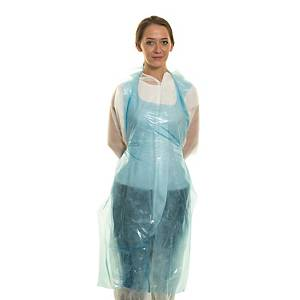 Disposable Apron Cater Safe 300057 Blue - Roll Of 200