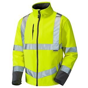 Leo High Visibility Buckland Softshell Jacket Yellow Medium