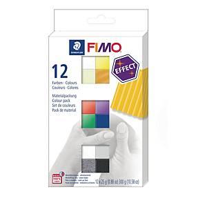 FIMO-soft Staedtler, assorterede farver, æske a 12 stk.
