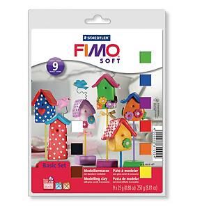 FIMO-soft Staedtler basic sæt, pakke a 9 stk.