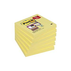 PK5+1 POST-IT 654-P6 NOTES 76X76MM YLLW