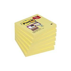 Post-it® Super Sticky Notes 654-P6, kanariegeel, 76 x 76 mm, per 6