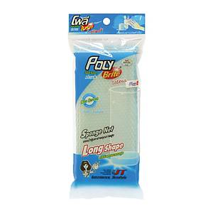 POLY-BRITE Ultra Long Shape Sponge In A Net 3.9X5.5 inches