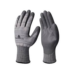 Deltaplus Grey/Black Cut Resistance Gloves Size 8 - Pack of 3 Pair
